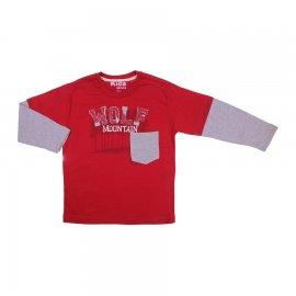 Imagem - Camiseta Infantil Manga Longa  - 6043-vermelho