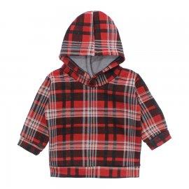 Imagem - Casaco de Moleton Xadrez - 10209-casaco-xadrez-vermelho