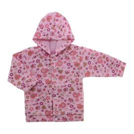 Imagem - Casaco de Soft Estampado Lapuko - 10095-casaco-soft-coruja-rosa