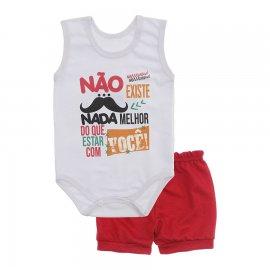 Imagem - Conjunto Bebê de Body Regata e Shorts Lapuko - 10287-conj.regata-nada-melhor-verme