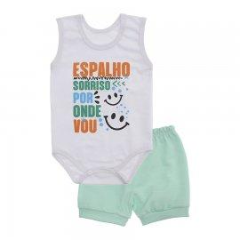 Imagem - Conjunto Bebê de Body Regata e Shorts Lapuko - 10287-conj.regata-menino-sorriso-ve