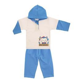 Imagem - Conjunto Bebê Menino em Moletinho Estampado - 9965-conj.moletinho-creme-azul-meca