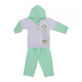 Imagem - Conjunto Bebê Moletinho Estampado - 9965-conjunto-moletinho-verde-carta