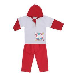 Imagem - Conjunto Bebê Menino em Moletinho Estampado - 9965-conjunto-bco-vermelho-marinhei