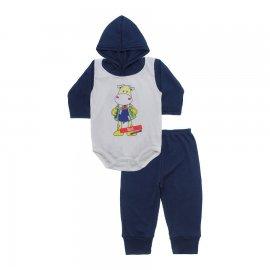 Imagem - Conjunto Body com Capuz e Calça para Bebê - 10136-body-calça-boi-sanfona