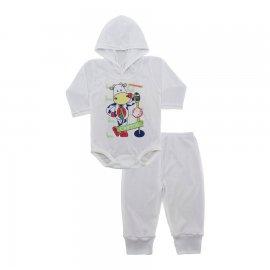 Imagem - Conjunto Body com Capuz e Calça para Bebê - 10136-body-calça-boi-cantor