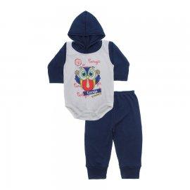 Imagem - Conjunto Body com Capuz e Calça para Bebê - 10136-body-calça-coruja