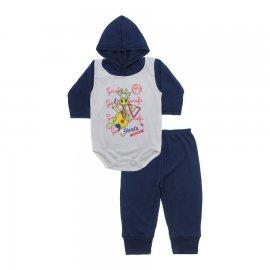 Imagem - Conjunto Body com Capuz e Calça para Bebê - 10136-body-calça-girafa-triângulo