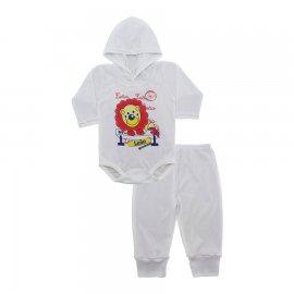 Imagem - Conjunto Body com Capuz e Calça para Bebê - 10136-body-calça-leão-teclado