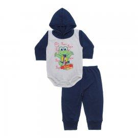 Imagem - Conjunto Body com Capuz e Calça para Bebê - 10136-body-calça-sapo-sax