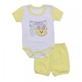 Imagem - Conjunto Body e Short Feminino Lapuko - 10219-conj-body-short-amarelo
