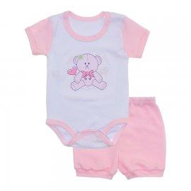 Imagem - Conjunto Body e Short Feminino Lapuko - 10219-conj-body-short-rosa