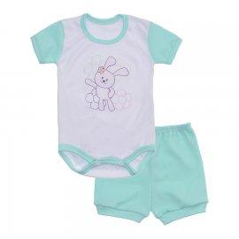 Imagem - Conjunto Body e Short Feminino Lapuko - 10219-conj.body-short-verde-bebe