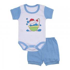 Imagem - Conjunto Body e Short Masculino Lapuko - 10218-conj.body-short-bco-azul-bebe