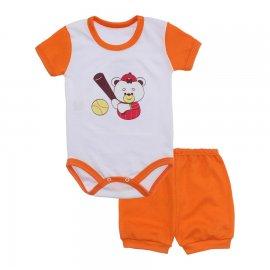 Imagem - Conjunto Body e Short Masculino Lapuko - 10218-conj-body-short-laranja