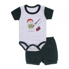 Imagem - Conjunto Body e Short Masculino Lapuko - 10218-conj-body-short-verde-escuro