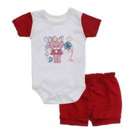 Imagem - Conjunto Body e Short para Menina Lapuko - 10284-conj.body-short-ursa-vermelho