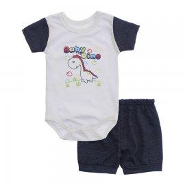 Imagem - Conjunto Body e Short para Menino Lapuko - 10285-conj.body.short-dino-azul-mes