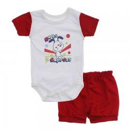 Imagem - Conjunto Body e Short para Menino Lapuko - 10285-conj.body-short-hugs-vermelho