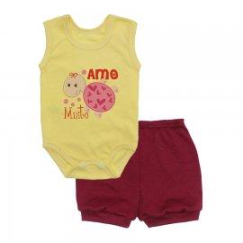 Imagem - Conjunto Body Regata e Shorts Menina - 10243-conj.regata-amo-muito-vinho