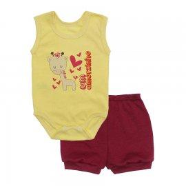 Imagem - Conjunto Body Regata e Shorts Menina - 10243-conj.regata-amorzinho-vinho