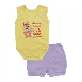 Imagem - Conjunto Body Regata e Shorts Menina - 10243-conj.regata-charmosa-lilas