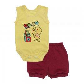 Imagem - Conjunto Body Regata e Shorts Menino - 10244-conj.regata-short-baby-bear-v
