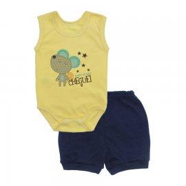 Imagem - Conjunto Body Regata e Shorts Menino - 10244-conj.regata-short-cheguei-mar