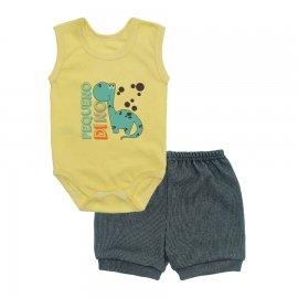 Imagem - Conjunto Body Regata e Shorts Menino - 10244-conj.regata-short-menino-dino