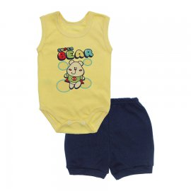 Imagem - Conjunto Body Regata e Shorts Menino - 10244-conj.regata-short-super-bear-