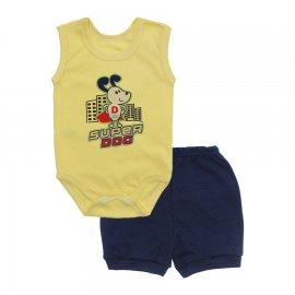 Imagem - Conjunto Body Regata e Shorts Menino - 10244-conj.regata-short-superdog-ma