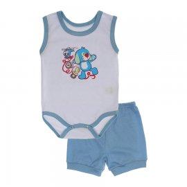 Imagem - Conjunto Body Regata Menino Lapuko - 10227-conj.regata-dog-azul-bebe