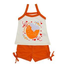 Imagem - Conjunto de Regata e Short Lacinho - 10039-conj-bata-short-laranja-flame