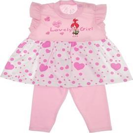 Imagem - Conjunto de Bebê Bata e Legging Pedrita -5733 - 5733 - Rosa