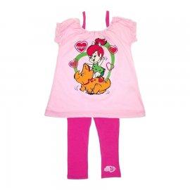 Imagem - Conjunto de Bebê Bata e Calça Bailarina Pedrita 5732 - 5732 - Rosa/Pink