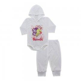 Imagem - Conjunto Body com Capuz e Calça para Bebê - 10137-body-calça-butterfly