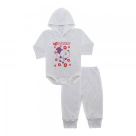 Imagem - Conjunto Body com Capuz e Calça para Bebê - 10137-body-calça-flowers