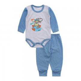 Imagem - Conjunto de Body e Calça para Bebê Lapuko - 10217-body-calca-lapuko-azul