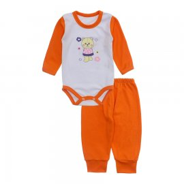 Imagem - Conjunto de Body e Calça para Bebê Lapuko - 10216-body-calca-lapuko-cenoura