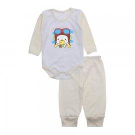 Imagem - Conjunto de Body e Calça para Bebê Lapuko - 10217-body-calça-lapuko-creme