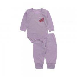 Imagem - Conjunto de Body e Calça para Bebê Lapuko - 10211-conj-body-calca-rib-lilas