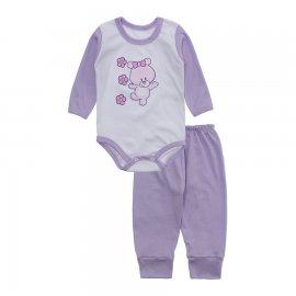 Imagem - Conjunto de Body e Calça para Bebê Lapuko - 10216-body-calca-lapuko-lilas