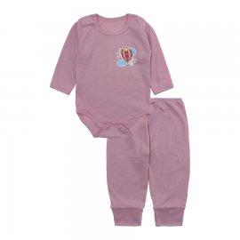 Imagem - Conjunto de Body e Calça para Bebê Lapuko - 10211-conj-body-calça-rib-rosa