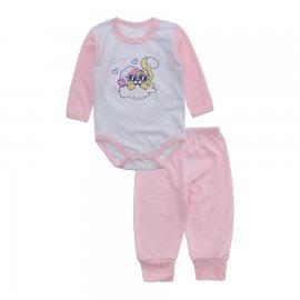 Imagem - Conjunto de Body e Calça para Bebê Lapuko - 10216-body-calca-lapuko-rosa-bebe