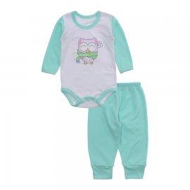 Imagem - Conjunto de Body e Calça para Bebê Lapuko - 10216-body-calca-lapuko-verde-bebe