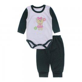 Imagem - Conjunto de Body e Calça para Bebê Lapuko - 10216-body-calca-lapuko-verde-escur