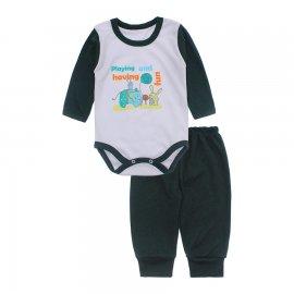 Imagem - Conjunto de Body e Calça para Bebê Lapuko - 10217-body-calca-lapuko-verde-escur