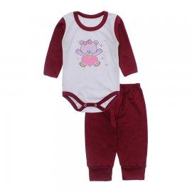 Imagem - Conjunto de Body e Calça para Bebê Lapuko - 10216-body-calça-lapuko-vinho