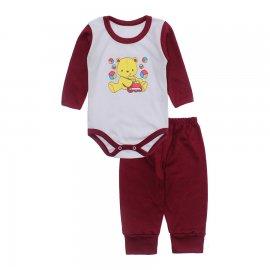 Imagem - Conjunto de Body e Calça para Bebê Lapuko - 10217-body-calca-lapuko-vinho