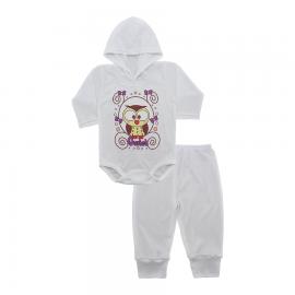 Imagem - Conjunto Body com Capuz e Calça para Bebê - 10137-body-calça-owlet